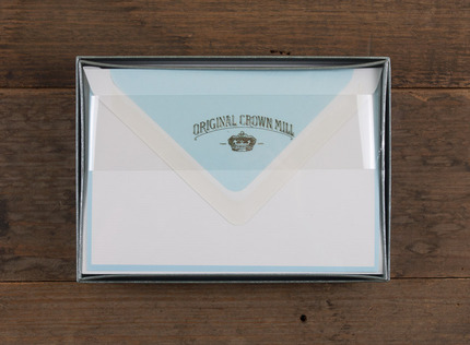 Writing sets papermarc melbourne australia original crown mill a6 white baby blue border writing set spiritdancerdesigns Gallery