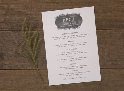 Wedding invitation card buy wedding invitation cards online brisbane adorn chalkboard menu card stopboris Image collections