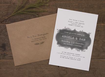 Adorn Chalkboard Wedding Invitation