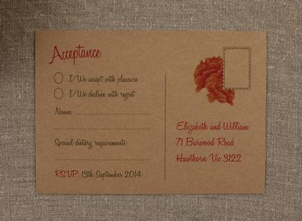 Austin RSVP Reply Card