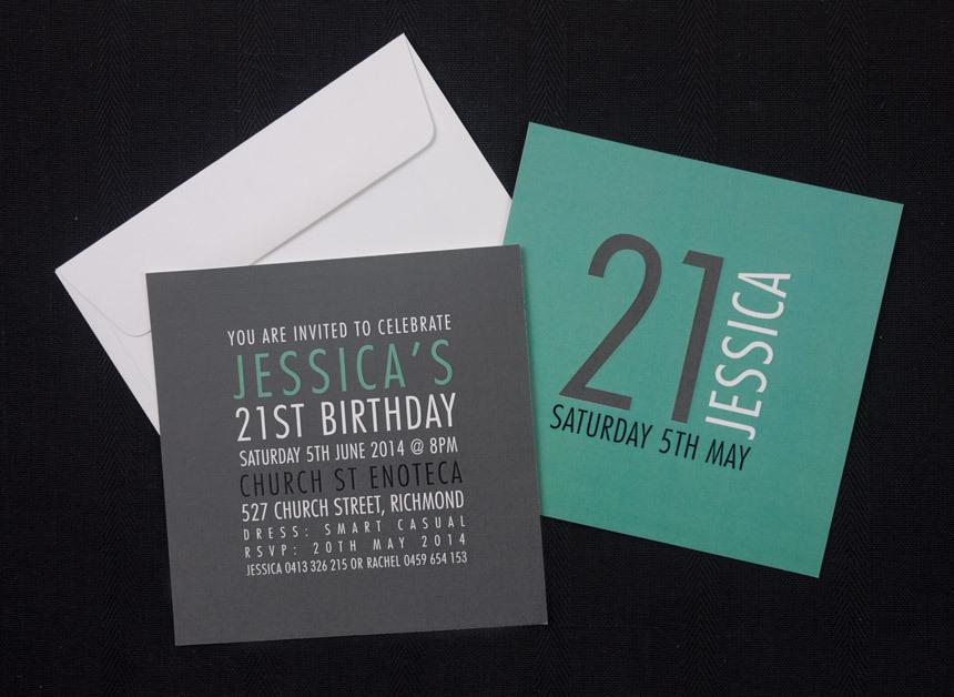 Rubix Birthday Invitation