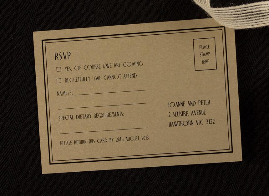 chrysler rsvp  reply card  papermarc melbourne australia