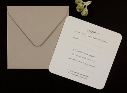 Manuscript RSVP Reply Card