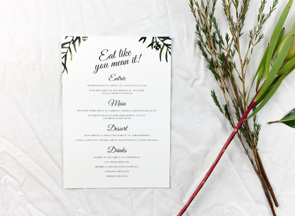 Best Silver Foil Wedding Invitations Online Australia Papermarc
