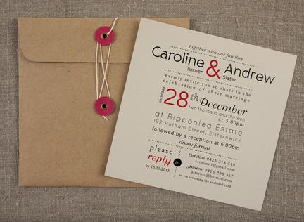 The columnist wedding invitation papermarc melbourne australia stopboris Choice Image