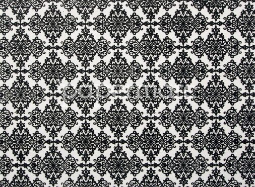 Arabesque Black/White Flocked