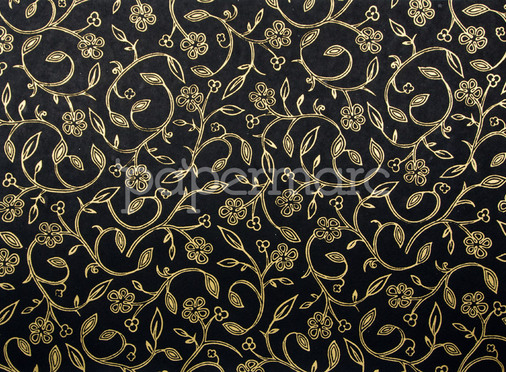 Floral Foils - Gold/Black A4